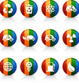 Ecology buttons vector