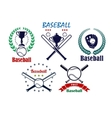 Baseball sporting emblems and symbols vector