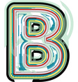 Abstract colorful letter b vector