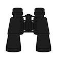 Binoculars icon color vector