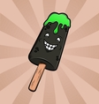 Funny cartoon ice-cream vector
