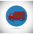 Delivery van car falt icon vector