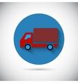 Delivery van car falt icon vector