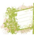 Floral grunge side banner vector