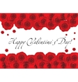 Red roses frame over white background copyspace vector