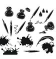 Ink set vector
