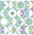 Seamless pattern of butterflies and moths vector