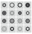 Black gears icons set vector