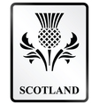 Scotland sign vector
