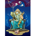 Poseidon the god of the sea vector