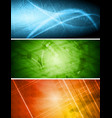 Abstract technical banners vector
