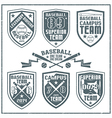 College baseball team emblem vector