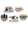 Halloween themes set vector