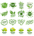 Large set of logos for natural products vector