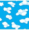 Abstract clouds background seamless vector