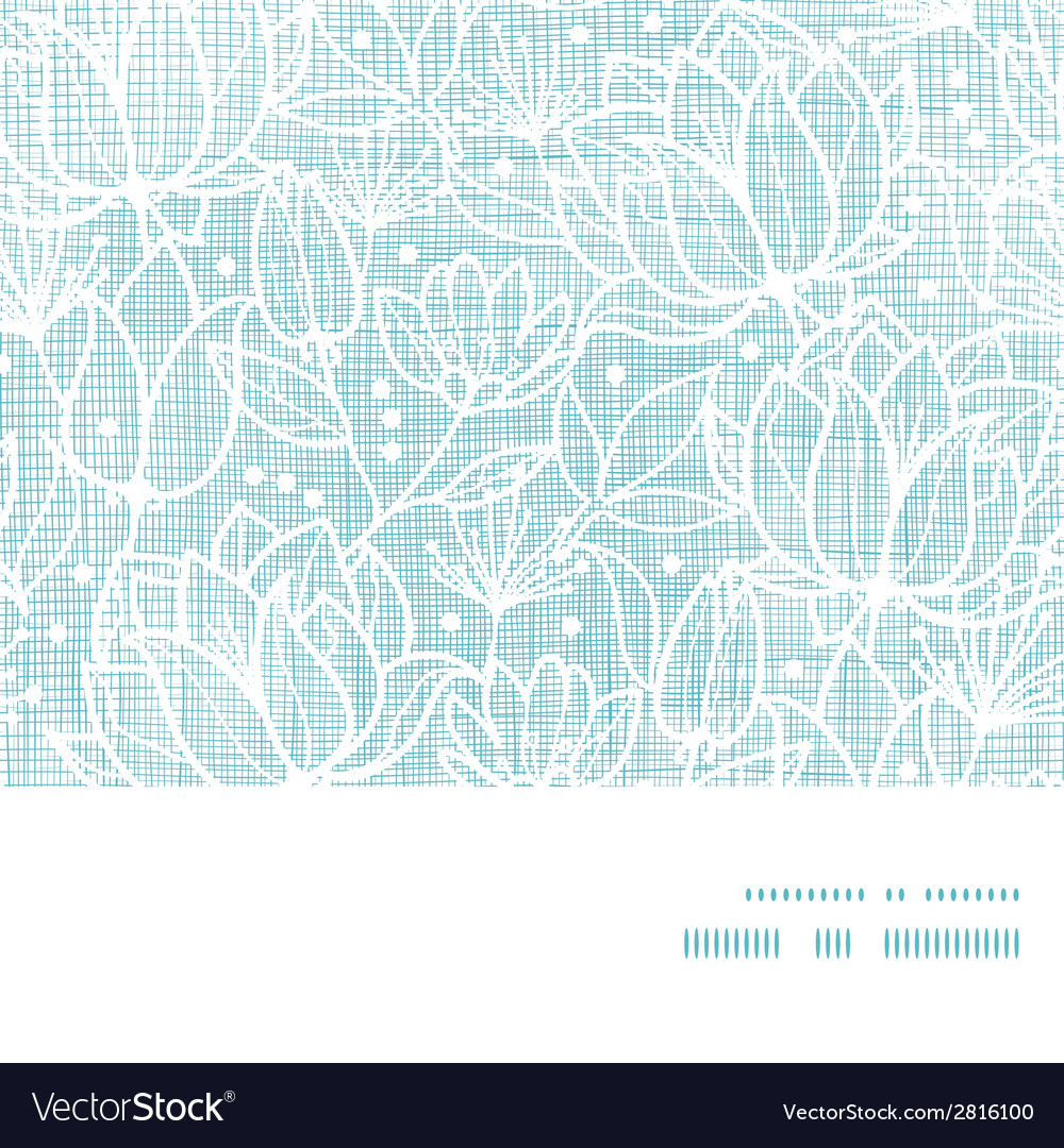 Blue lace flowers textile horizontal frame vector | Price: 1 Credit (USD $1)