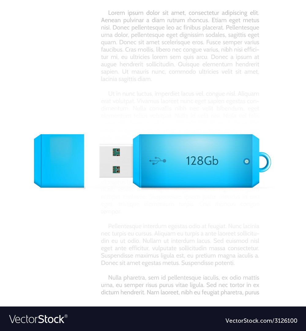 Blue usb flash drive vector | Price: 1 Credit (USD $1)