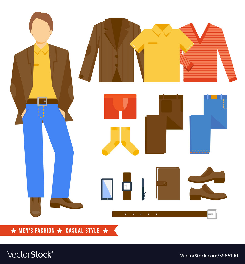Business man clothes icons vector | Price: 1 Credit (USD $1)