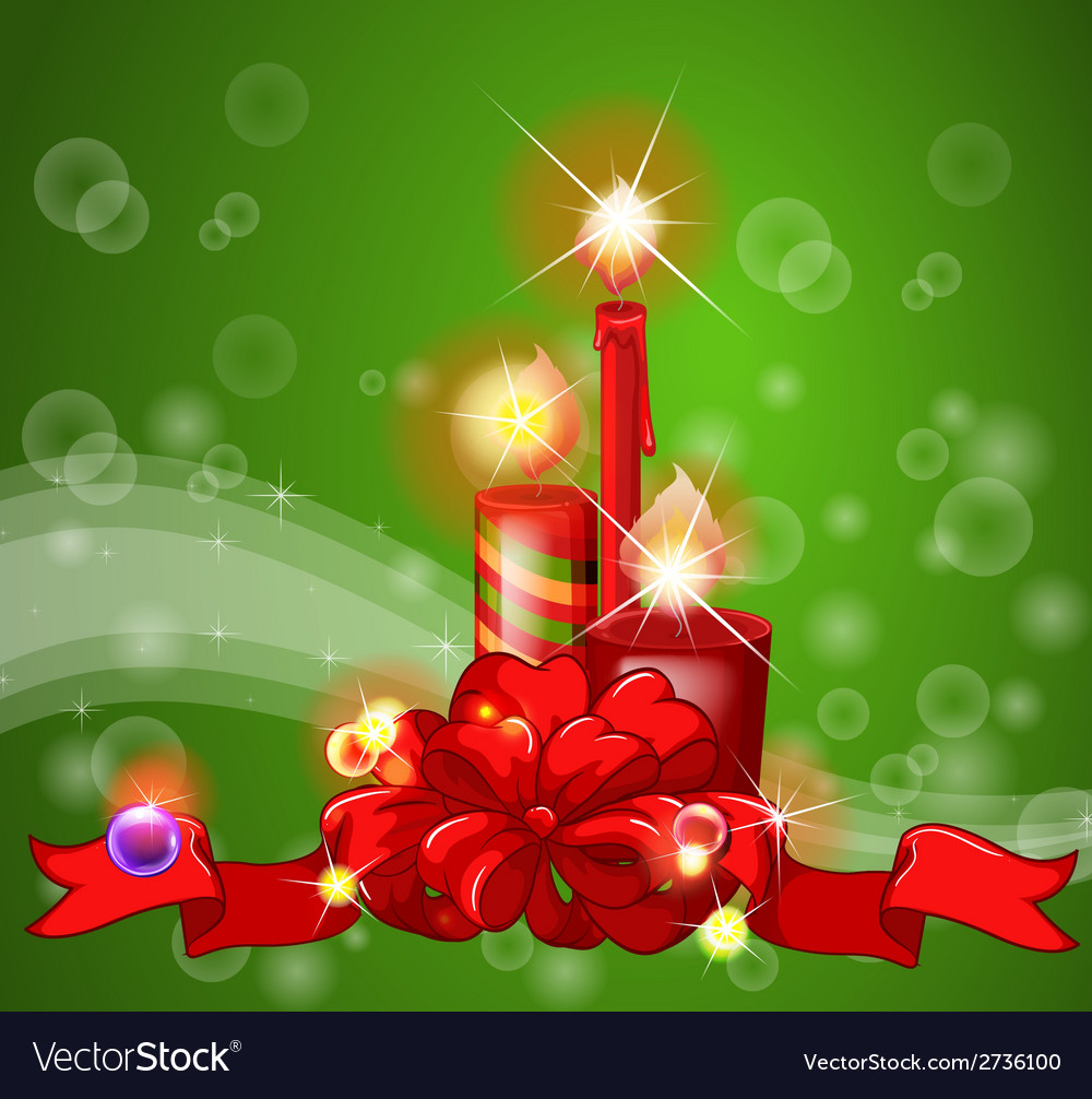 Christmas candles vector   Price: 1 Credit (USD $1)