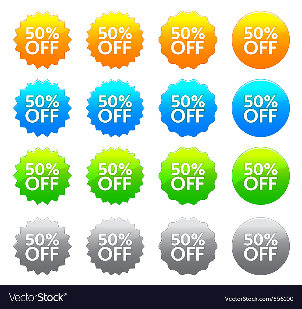 Discount labels set vector | Price: 1 Credit (USD $1)