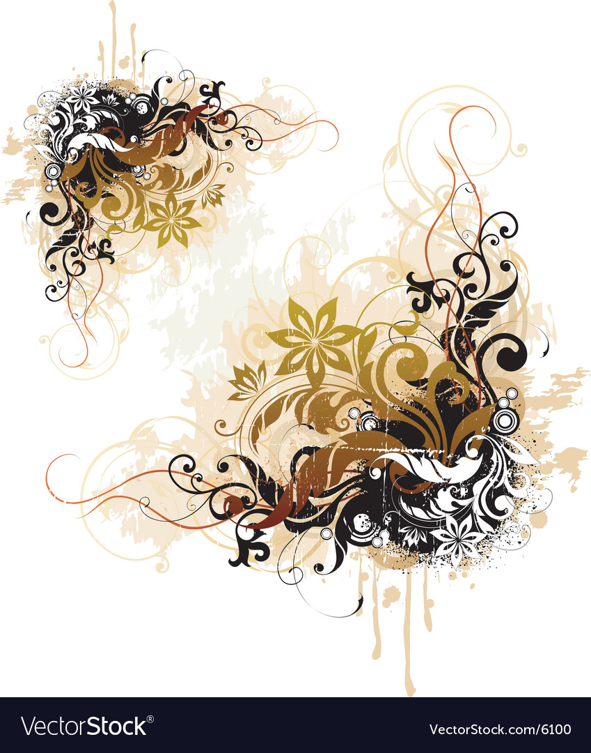 Floral design element vector | Price: 3 Credit (USD $3)