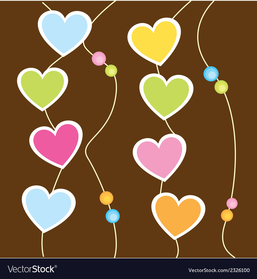 Hanging hearts vector | Price: 1 Credit (USD $1)