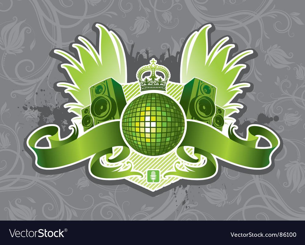 Music emblem vector | Price: 1 Credit (USD $1)