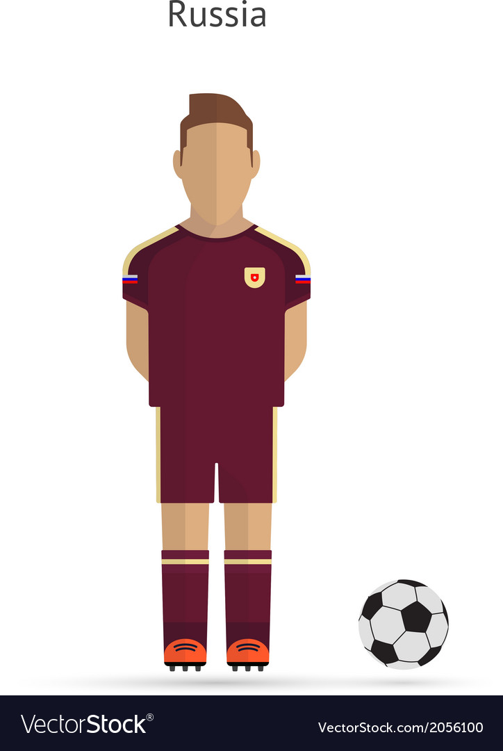 National football player russia soccer team vector | Price: 1 Credit (USD $1)