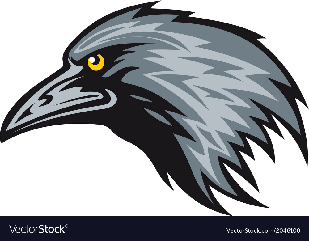 Raven mascot vector | Price: 1 Credit (USD $1)