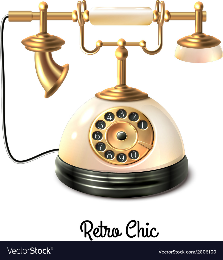 Retro style telephone vector | Price: 1 Credit (USD $1)