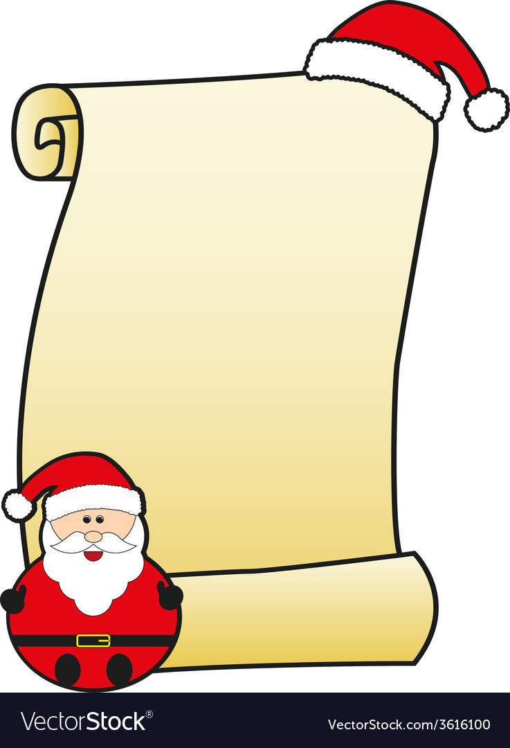 Santa claus with parchment vector | Price: 1 Credit (USD $1)