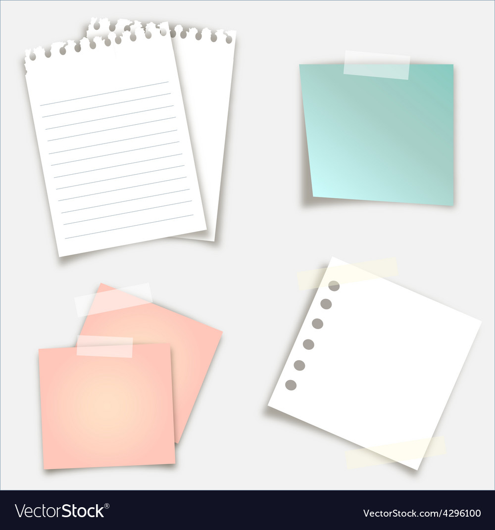Sticky notes design vector | Price: 1 Credit (USD $1)