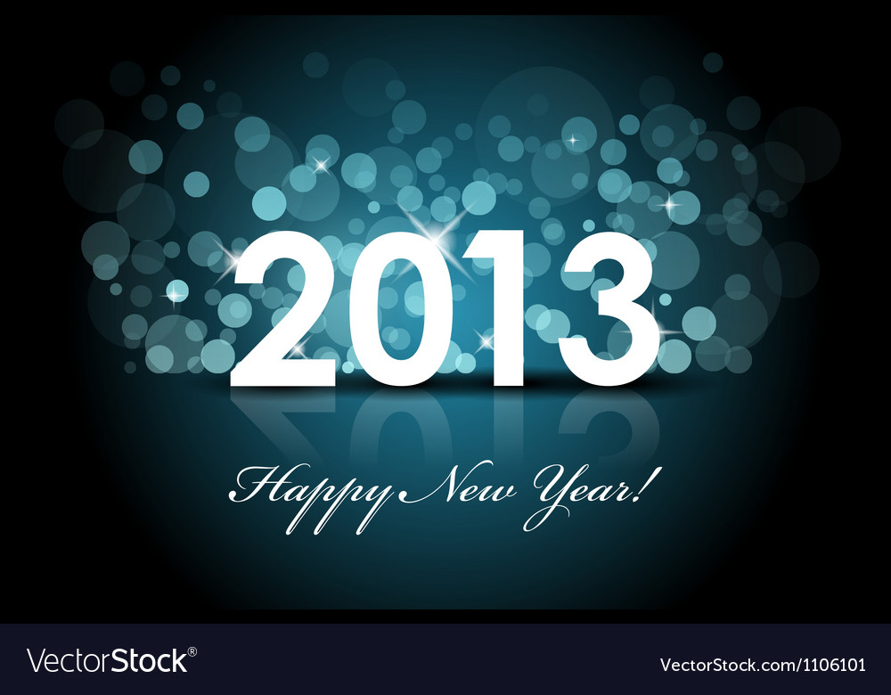 2013 - new year blue background vector | Price: 1 Credit (USD $1)