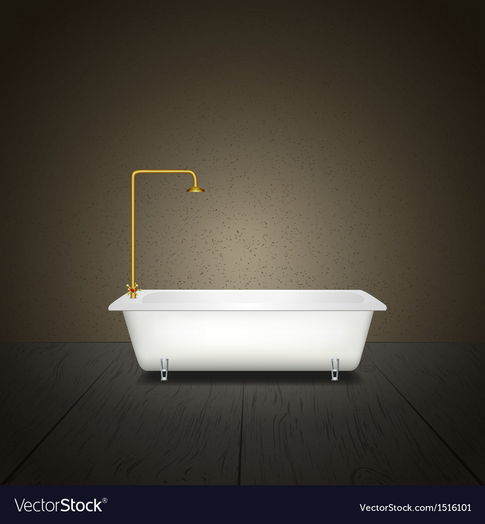 Bath on grey background vector | Price: 1 Credit (USD $1)