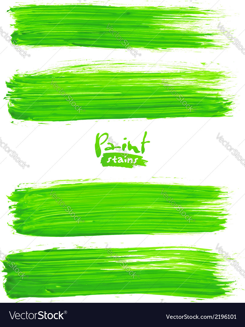Bright green acrylic brush strokes vector | Price: 1 Credit (USD $1)