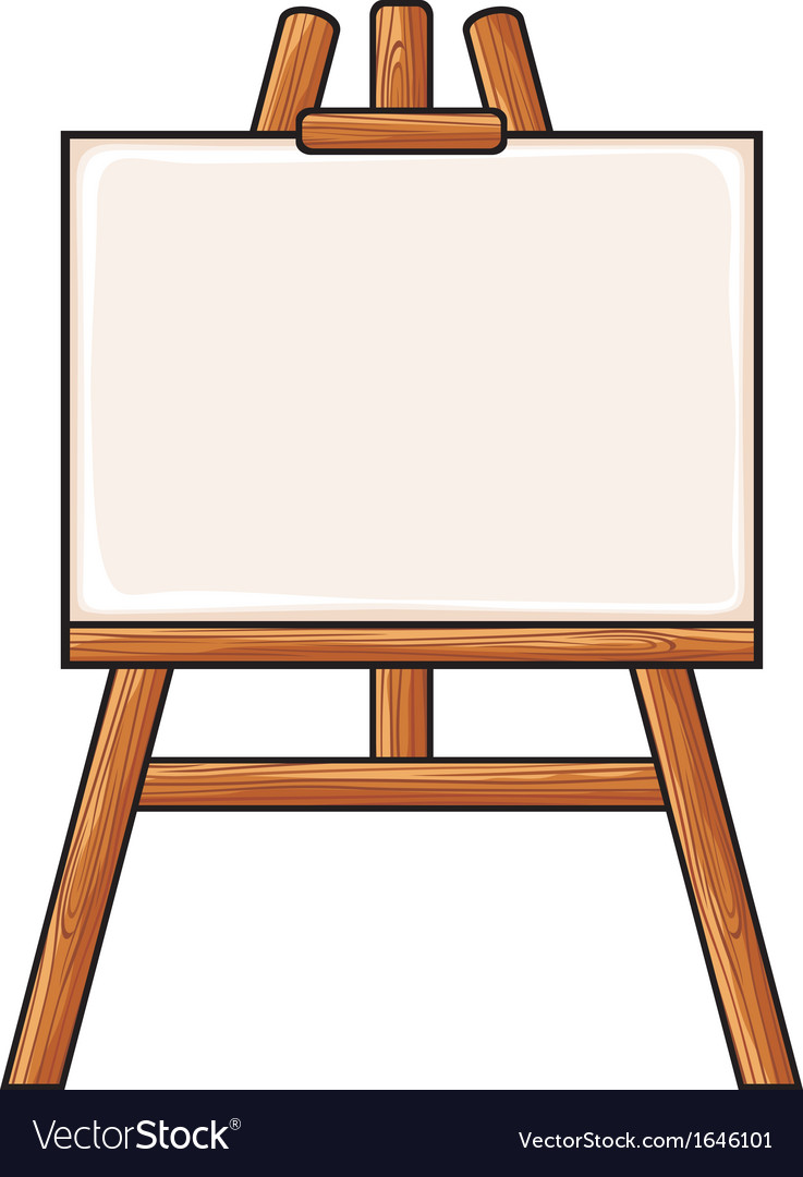 Canvas on an easel vector | Price: 1 Credit (USD $1)