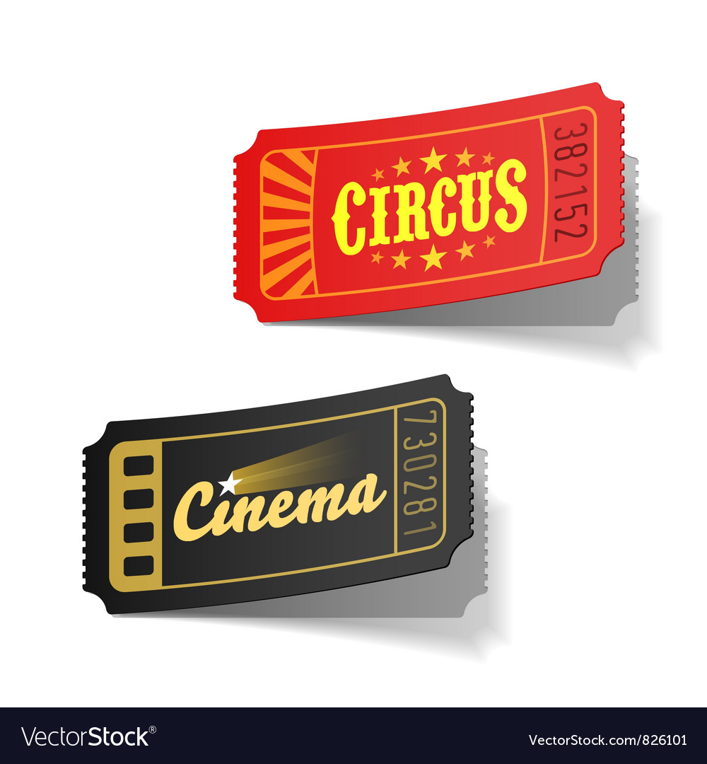 Circus and cinema tickets vector | Price: 3 Credit (USD $3)