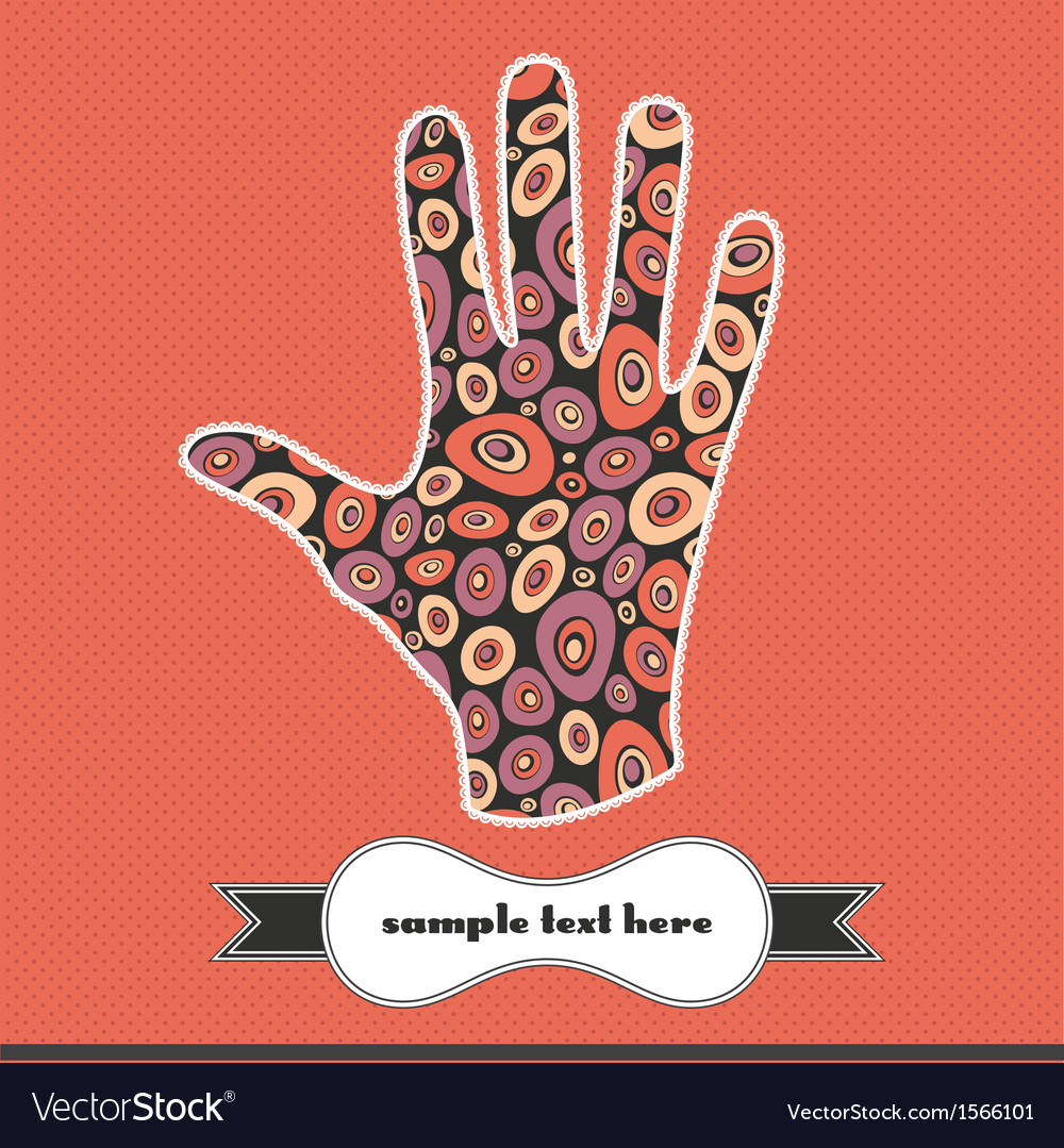 Decorative elements on the handprint vector | Price: 1 Credit (USD $1)