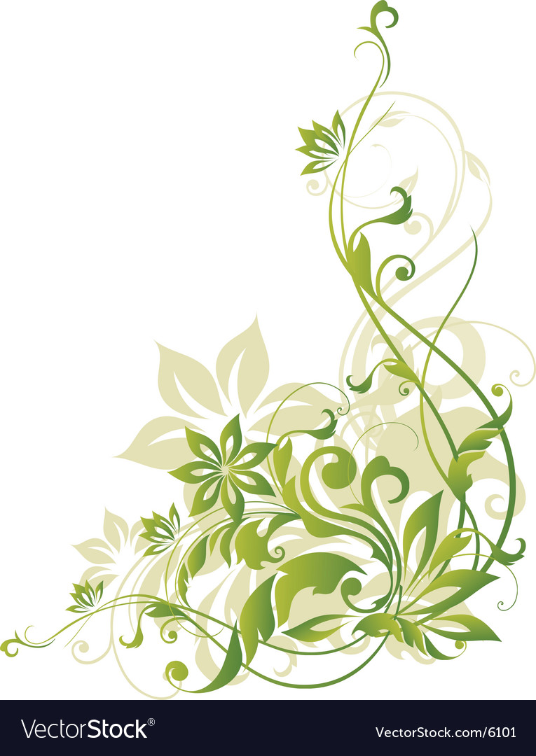 Floral border element vector | Price: 1 Credit (USD $1)