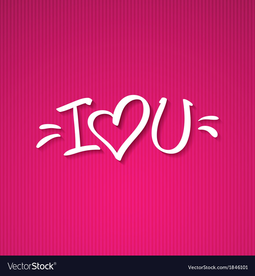 I love you text vector | Price: 1 Credit (USD $1)