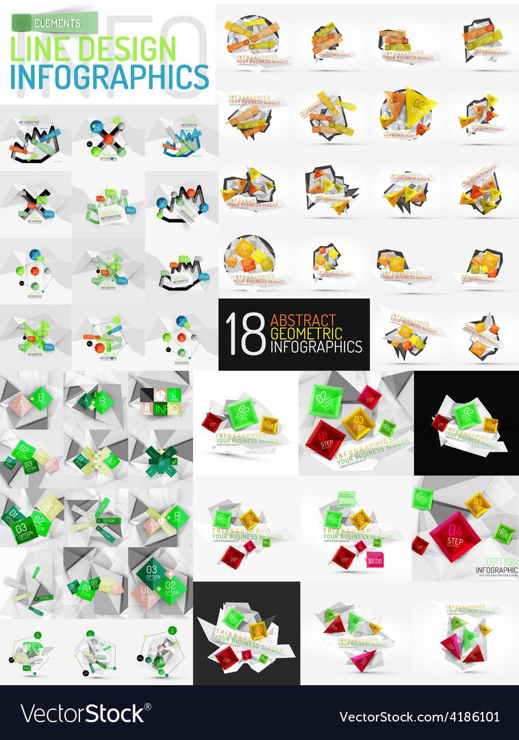 Mega set of infographic templates vector