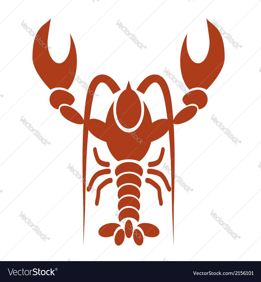 Red lobster vector | Price: 1 Credit (USD $1)