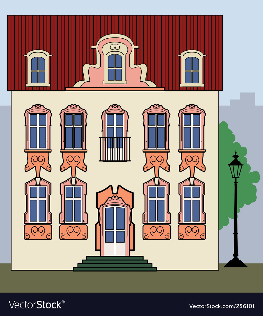 Romantic old town house vector | Price: 1 Credit (USD $1)