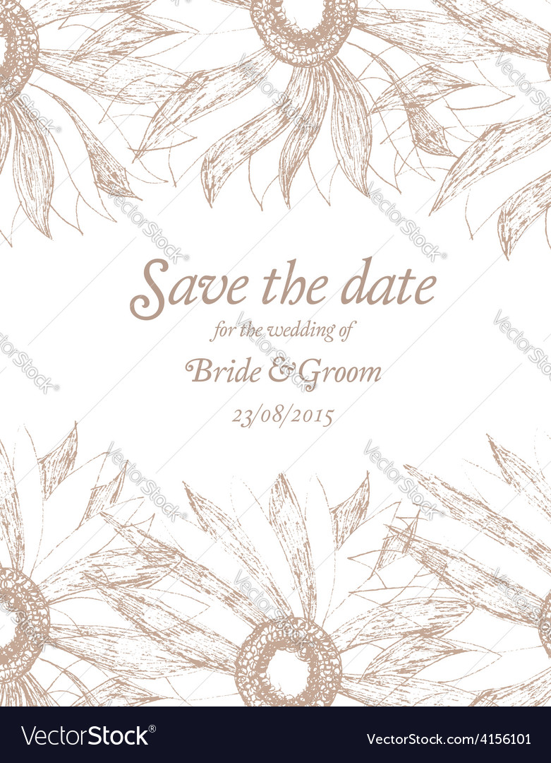 Save the date wedding invitation card vector | Price: 1 Credit (USD $1)