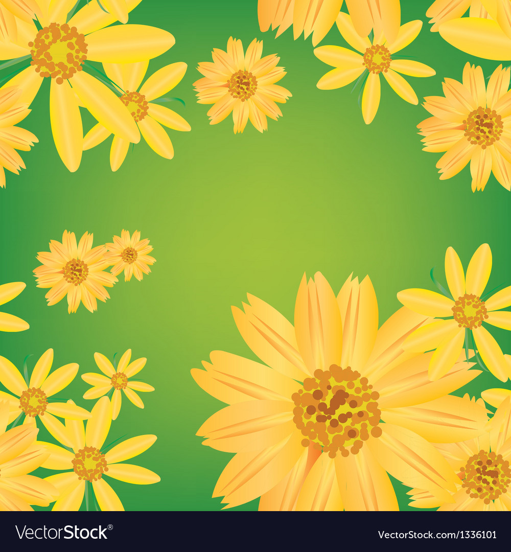 Seamless flower leaves pattern background vector | Price: 1 Credit (USD $1)