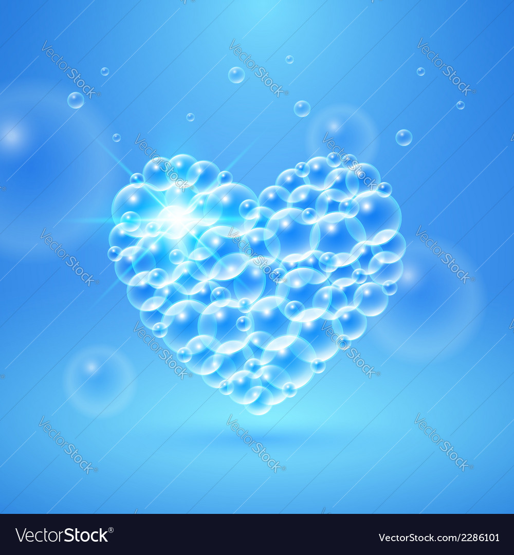 Shiny heart of bubbles vector   Price: 1 Credit (USD $1)