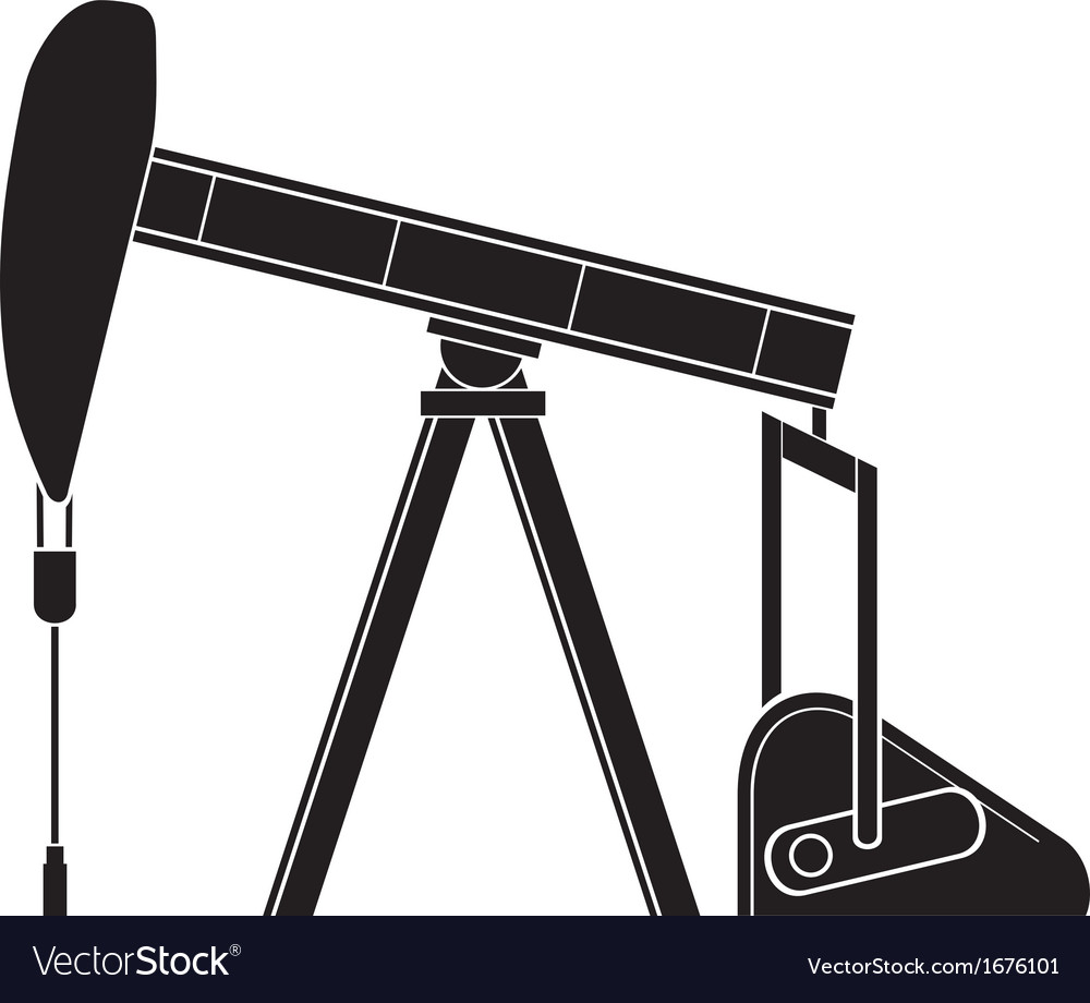 Silhouette of oil pump jack vector | Price: 1 Credit (USD $1)