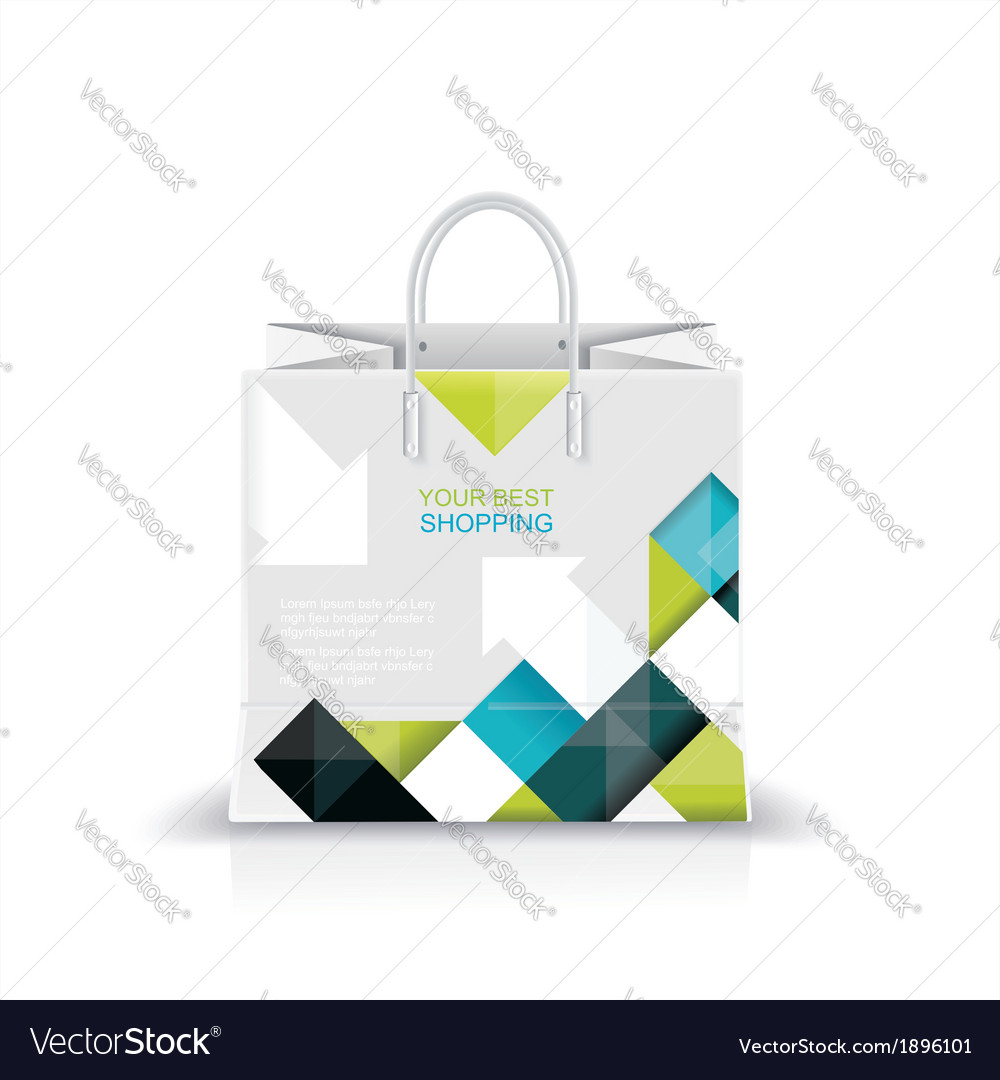 White shopping paper or plastic bag vector | Price: 1 Credit (USD $1)