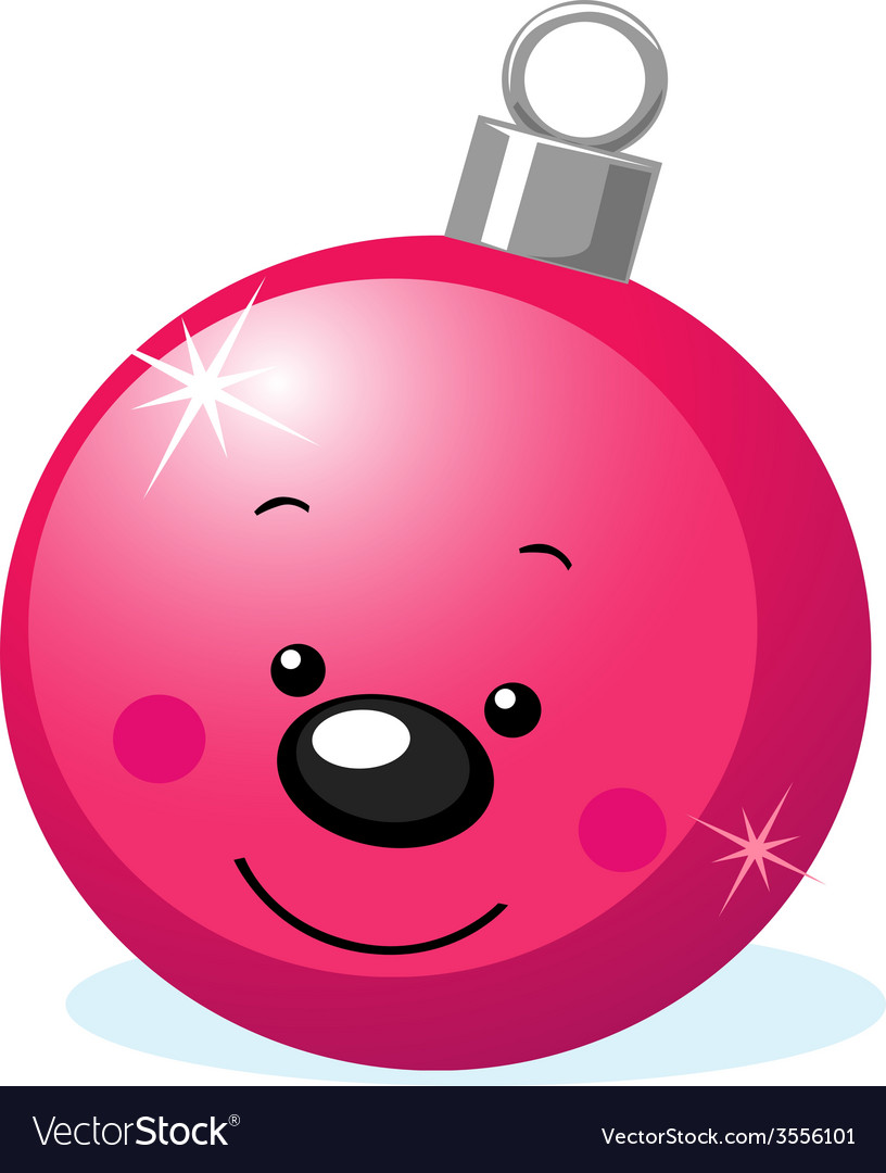 Xmas character - ball decoration with smiling face vector   Price: 1 Credit (USD $1)