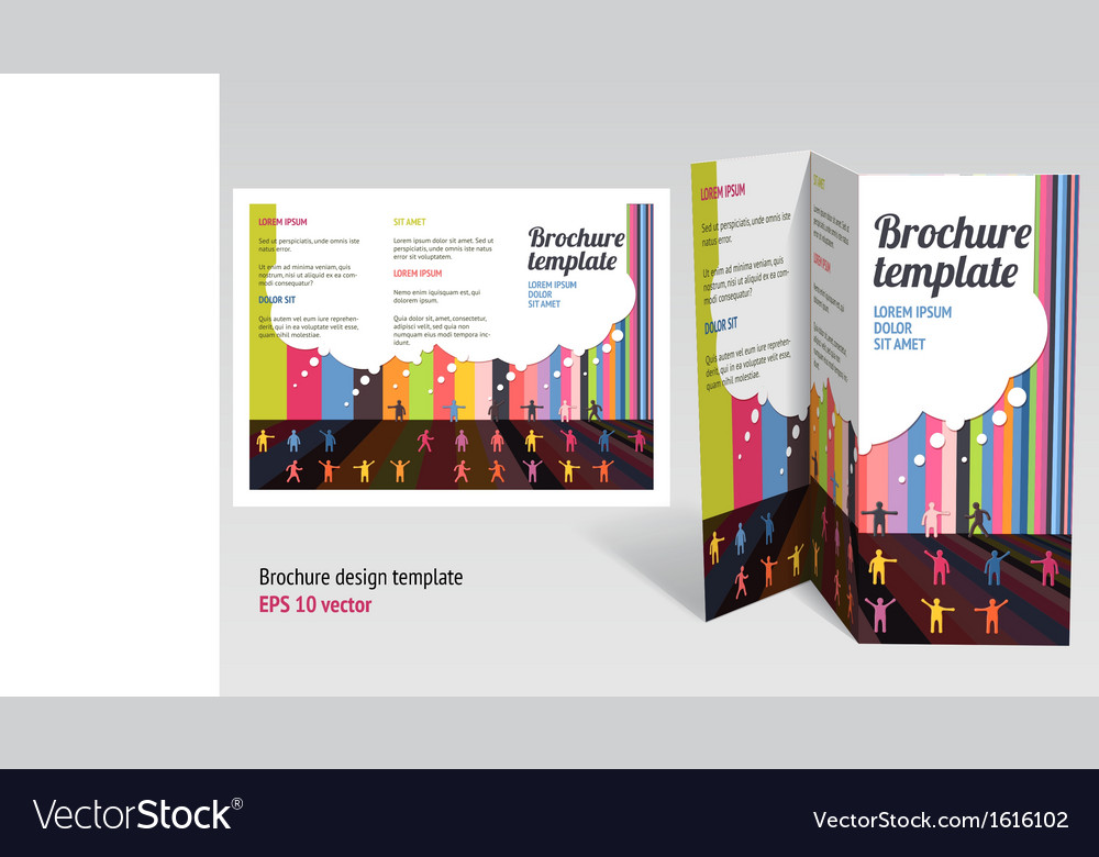 Brochure booklet z-fold layout editable design vector | Price: 1 Credit (USD $1)